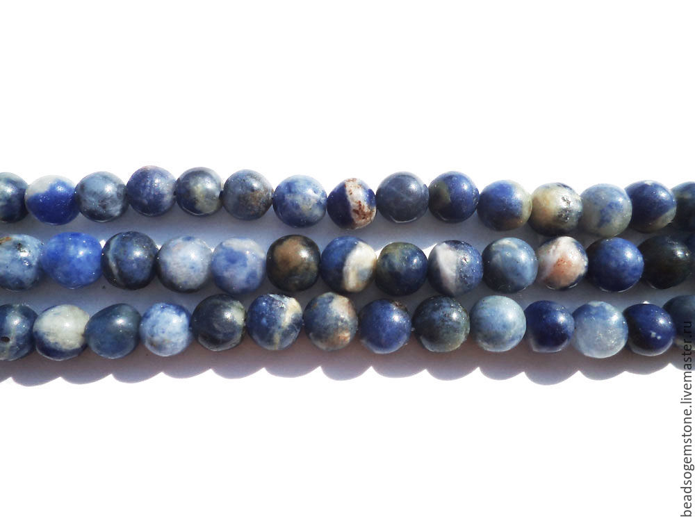 Sodalite Smooth Round (Quality D) / SOD-001, Beads1, Moscow,  Фото №1