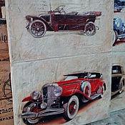 Картины и панно ручной работы. Ярмарка Мастеров - ручная работа Панно деревянное 30х40 состаренное Ретро-авто-6. Handmade.