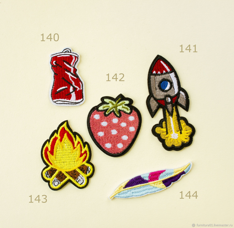Нашивки для ткани, фетра, джинсы, Аппликации, Москва,  Фото №1