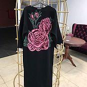 Одежда handmade. Livemaster - original item Cashmere dress, black dress, rose dress, Cape.. Handmade.
