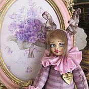 Кукла болтушка. Зайка Цирковая