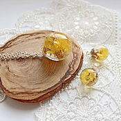 Jewelry Sets handmade. Livemaster - original item Jewelry sets: Pendant and earrings are a flower in the Field. Handmade.