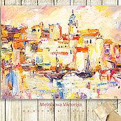 """Картины и панно ручной работы. Ярмарка Мастеров - ручная работа Картина маслом """"Солнышко в городе"""" 50/40 см. Handmade."""