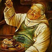 """Картины ручной работы. Ярмарка Мастеров - ручная работа Картины: Фриц Вагнер """"Монах в винном погребе"""". Handmade."""