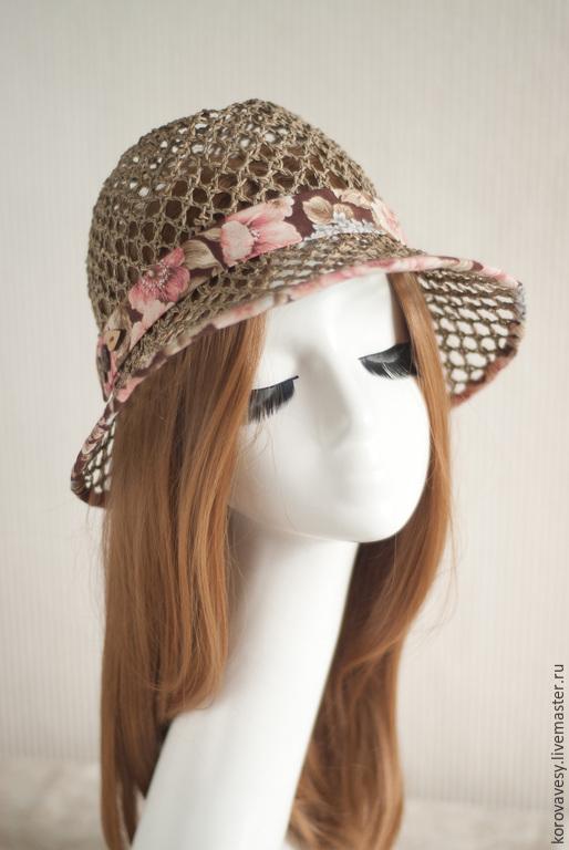 Шляпы ручной работы. Ярмарка Мастеров - ручная работа. Купить Цветущий сад. Handmade. Бежевый, цветы, Соломка, соломка