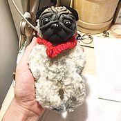 Куклы и игрушки ручной работы. Ярмарка Мастеров - ручная работа Собака Мопс. Handmade.