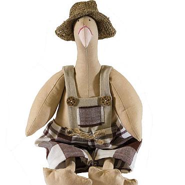 Куклы и игрушки ручной работы. Ярмарка Мастеров - ручная работа Гусь в стиле Тильда. Handmade.