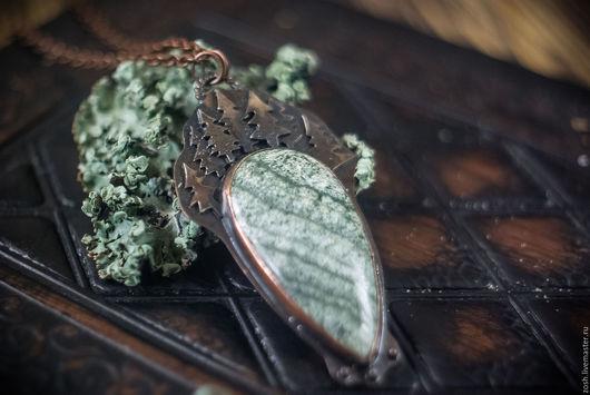 """Кулоны, подвески ручной работы. Ярмарка Мастеров - ручная работа. Купить Кулон """"Ночь"""". Handmade. Зеленый, кулон, про лес"""