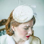 Свадебный салон ручной работы. Ярмарка Мастеров - ручная работа Свадебная шляпка-таблетка Moon. Handmade.