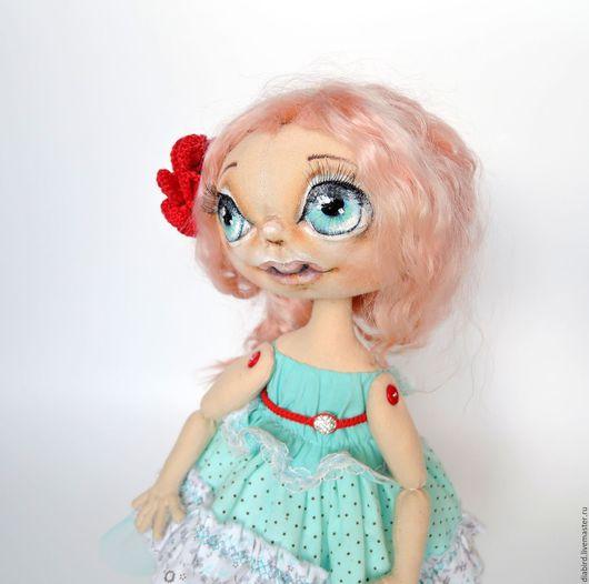 Куклы тыквоголовки ручной работы. Ярмарка Мастеров - ручная работа. Купить Кукла текстильная интерьерная. Милочка. Handmade. Бирюзовый