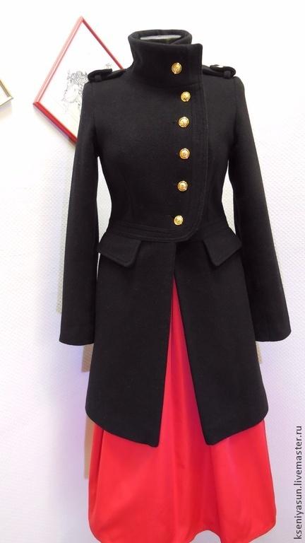 Верхняя одежда ручной работы. Ярмарка Мастеров - ручная работа. Купить Пальто Military 2. Handmade. Черный, пальто