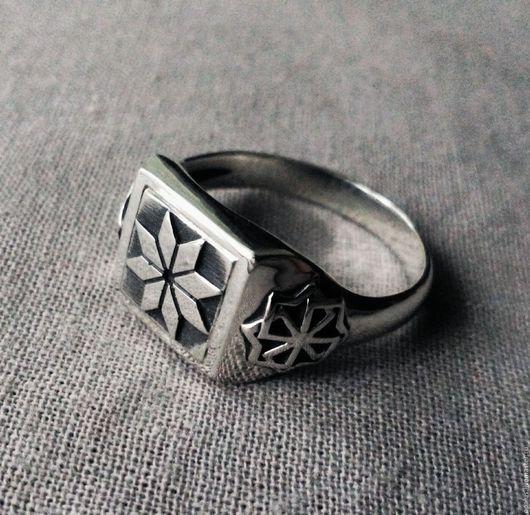 """Украшения для мужчин, ручной работы. Ярмарка Мастеров - ручная работа. Купить Кольцо """"Алатырь"""". Handmade. Алатырь, кольцо, алатырь из серебра"""