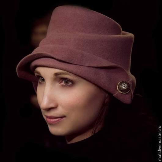 """Шляпы ручной работы. Ярмарка Мастеров - ручная работа. Купить шляпка """" Игра"""". Handmade. Бледно-розовый, велюровая шляпа"""