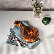 Посуда handmade. Livemaster - original item Wooden cheese board made of cedar wood RD35. Handmade.
