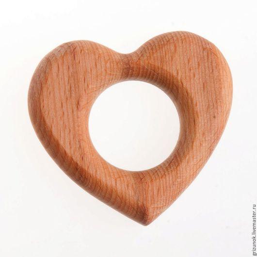 """Развивающие игрушки ручной работы. Ярмарка Мастеров - ручная работа. Купить Грызунок """"Сердечко"""". Handmade. Коричневый, сердечко, прорезыватель дерево"""