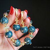 Украшения handmade. Livemaster - original item Kyanite bracelet, Goldfield 24K