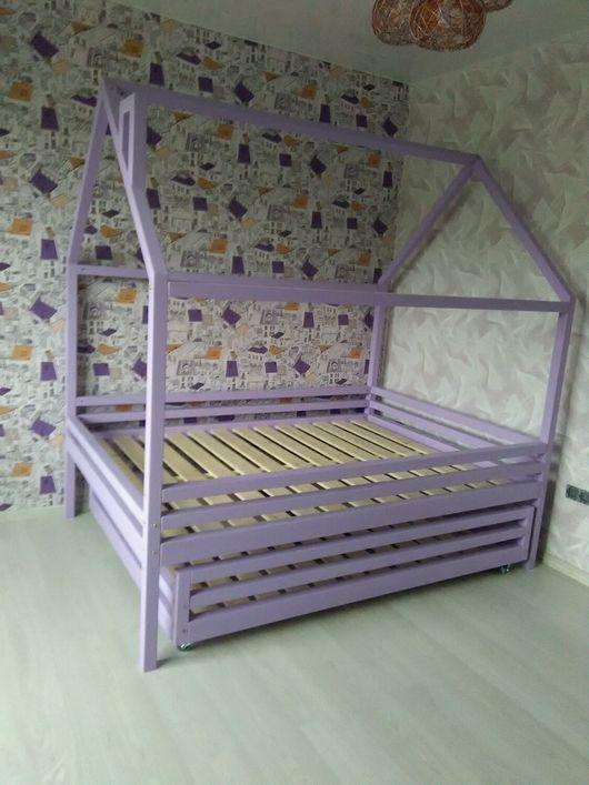 Детская ручной работы. Ярмарка Мастеров - ручная работа. Купить Кровать домик. Handmade. Кровать домик, мебель для детей