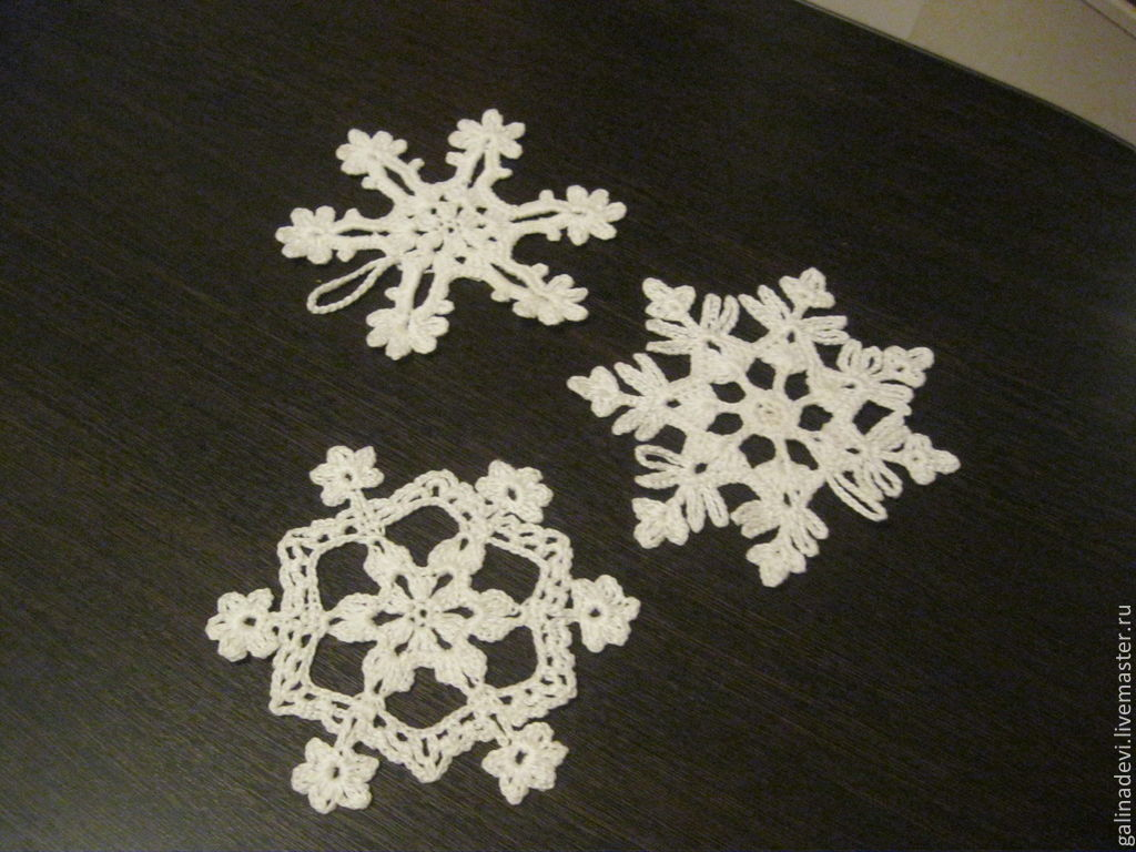 SNOWFLAKE Christmas knitted Christmas tree ornament – shop online on ...