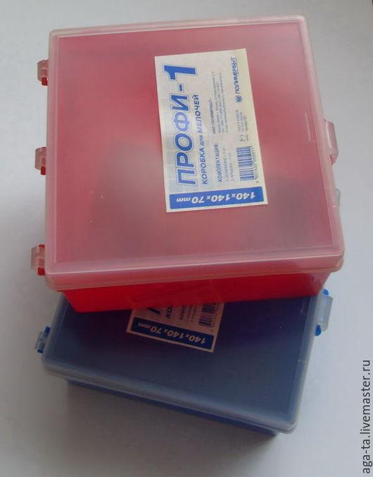 Коробка для мелочей малая. Есть 2 шт - красная и синяя. Пластик.