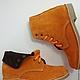 Обувь ручной работы. Замшевые ботинки оранжевого цвета , высокие. ELVIRA. Интернет-магазин Ярмарка Мастеров. Замшевые ботинки, оранжевое