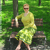 Одежда ручной работы. Ярмарка Мастеров - ручная работа Комплект Зеленый шум. Handmade.