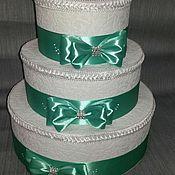 Свадебный салон ручной работы. Ярмарка Мастеров - ручная работа Свадебная казна-торт. Handmade.