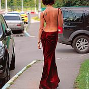 Одежда handmade. Livemaster - original item Evening velvet dress