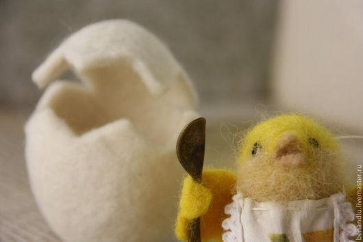 Игрушки животные, ручной работы. Ярмарка Мастеров - ручная работа. Купить Цыпленок и яйцо. Handmade. Желтый, цыплята, яйцо пасхальное
