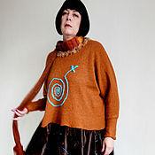 """Одежда ручной работы. Ярмарка Мастеров - ручная работа Теплое платье в стиле бохо """"Рыжая Маша"""". Handmade."""