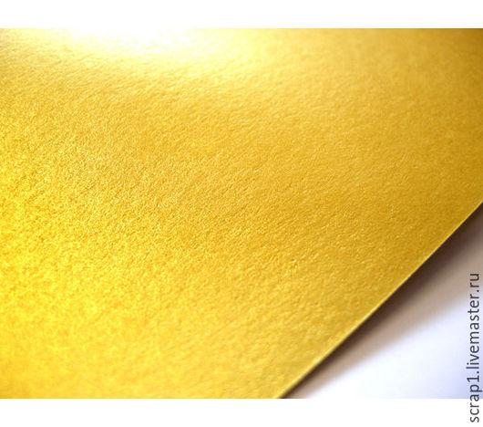 """Открытки и скрапбукинг ручной работы. Ярмарка Мастеров - ручная работа. Купить Метализированная дизайнерская  бумага """" Золото"""" 20х30.  120 гр.. Handmade."""