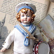 Куклы и игрушки handmade. Livemaster - original item Doll in antique style Little sailor.. Handmade.