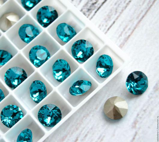 Для украшений ручной работы. Ярмарка Мастеров - ручная работа. Купить 8 мм Шатоны Swarovski 1088 blue zircon ss39Сваровски кристаллы. Handmade.