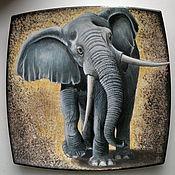Картины и панно ручной работы. Ярмарка Мастеров - ручная работа Добрый слон. Handmade.