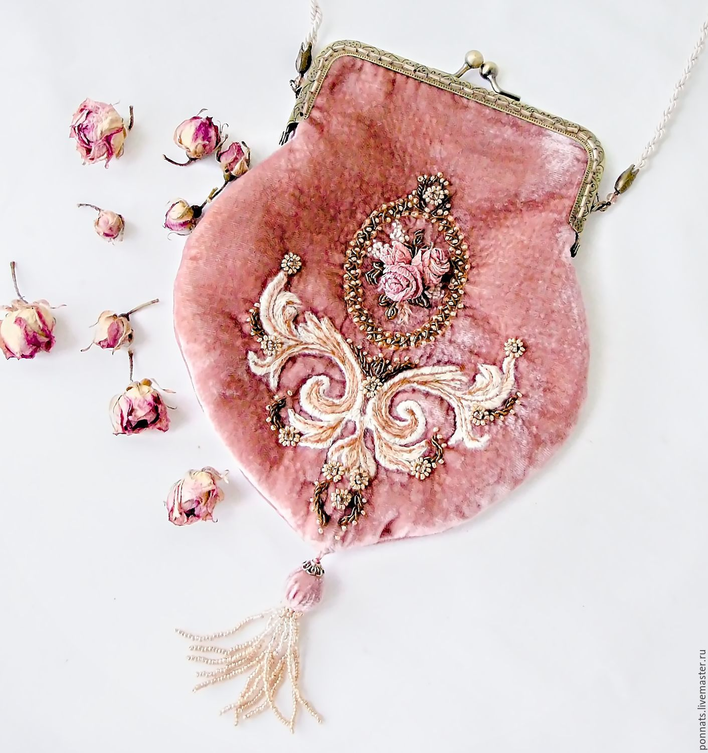Velvet evening bag cross body