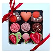 Подарки на 14 февраля ручной работы. Ярмарка Мастеров - ручная работа Набор из 9 конфет ручной работы из шоколада - Choc-Choc. Handmade.