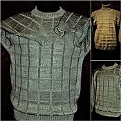 Одежда handmade. Livemaster - original item 100% linen Men`s sweater