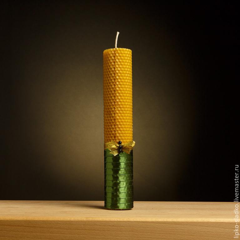 Свечи ручной работы. Ярмарка Мастеров - ручная работа. Купить Свеча из натуральной вощины (большая). Handmade. Свечи, воск