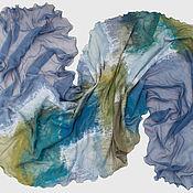Аксессуары ручной работы. Ярмарка Мастеров - ручная работа Валяный шарф Атлантика. Handmade.