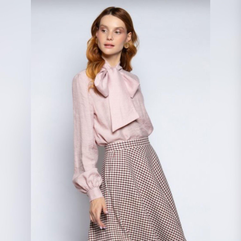 Блузка жемчужно-розового цвета, Блузки, Москва,  Фото №1