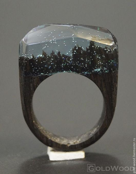 """Кольца ручной работы. Ярмарка Мастеров - ручная работа. Купить Деревянное кольцо """"Волшебная  принцесса 24"""", кольцо из дерева. Handmade."""
