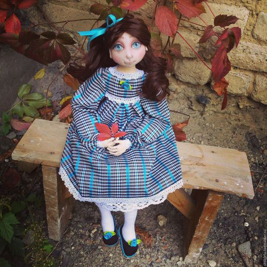 Коллекционные куклы ручной работы. Ярмарка Мастеров - ручная работа. Купить Кукла Алиса.. Handmade. Бирюзовый, ручная работа