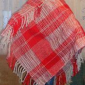 Одежда ручной работы. Ярмарка Мастеров - ручная работа Пончо - красное в клетку. Handmade.