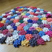 Для дома и интерьера ручной работы. Ярмарка Мастеров - ручная работа Цветочный коврик. Handmade.