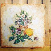 """Картины и панно ручной работы. Ярмарка Мастеров - ручная работа Панно в стиле """"фреска"""". Handmade."""