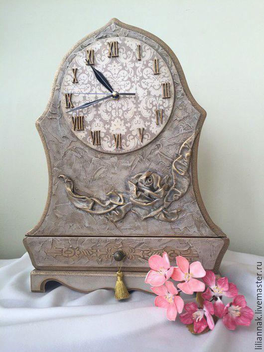 """Часы для дома ручной работы. Ярмарка Мастеров - ручная работа. Купить Каминные часы """"Элегия"""". Handmade. Часы интерьерные"""