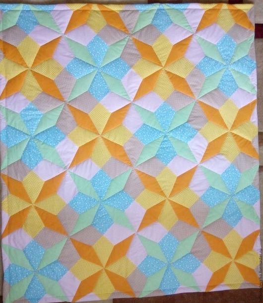 Пледы и одеяла ручной работы. Ярмарка Мастеров - ручная работа. Купить Лоскутное одеялко. Handmade. Комбинированный, детское лоскутное одеяло