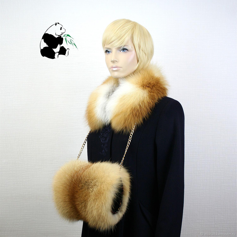 Spectacular fur clutch fur red Fox. Stylish ladies accessory, Clutch, Ekaterinburg,  Фото №1