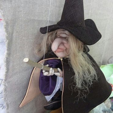 Куклы и игрушки ручной работы. Ярмарка Мастеров - ручная работа Ведьмочка. Хеллоуин. Handmade.