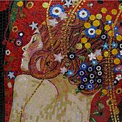 Картины и панно ручной работы. Ярмарка Мастеров - ручная работа Девушка, копия картины Г. Климта, фрагмент, мозаика. Handmade.