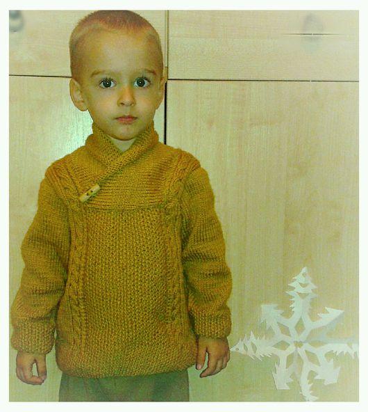 """Одежда для мальчиков, ручной работы. Ярмарка Мастеров - ручная работа. Купить Свитер для мальчика спицами """"Листопад"""". Handmade. Свитер, малышам"""